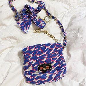 Auth. Lanvin Leopard Mini Happy Crossbody Bag